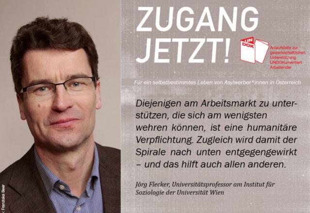 UNDOK-Kampagne ZUGANG JETZT! Jörg Flecker, Universität Wien
