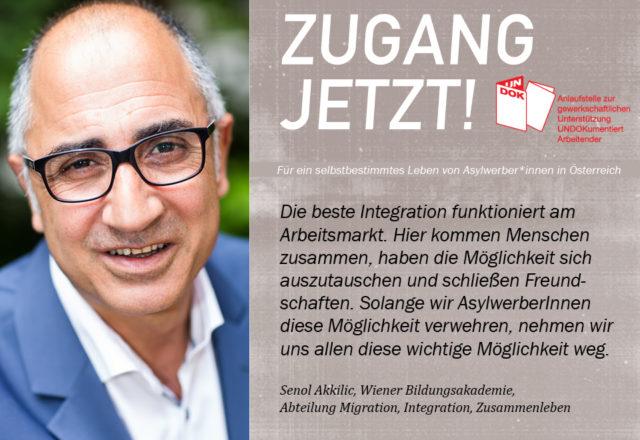 UNDOK-Kampagne ZUGANG JETZT! Senol Akkilic, Wiener Bildungsakademie